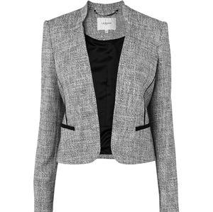 EUC LK Bennett Open Front Tweed Blazer Size 10